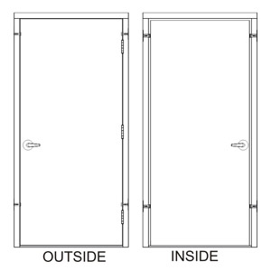 HD30x80-0-P-LH-CYL Steel  Door
