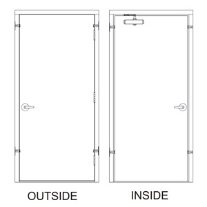 HD30x80-3-P-LH-CYL fire rated  Steel  Door